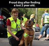 Proud dog…