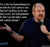 Louis CK on the Ten Commandments…