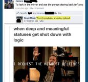 Deep status shot down with logic…
