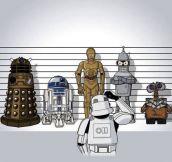 Robot lineup…