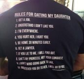 Before you date my daughter…