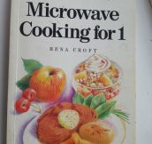 The saddest cookbook…