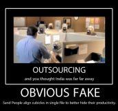 Obvious fake…