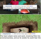 12 Scary Two Sentence Stories…