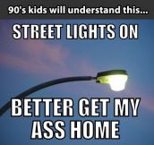 When the street lights went on…
