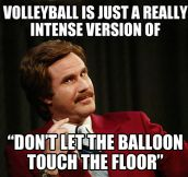 Volleyball realization…