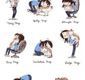 Ways to hug your cat…