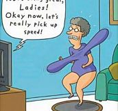 Helicopter grandma…
