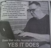 Dammit Norman