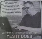 Dammit Norman
