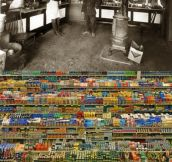 GROCERY STORES 91 YEARS APART