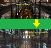 The archives were based on Trinity's library