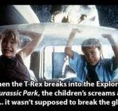 Jurassic Park fact…