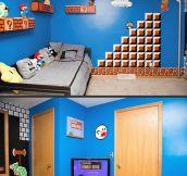 Mario Bros themed room…
