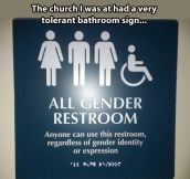 Open-minded church…