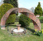 A brick arch…