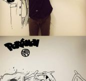 Epic Asian guy draws himself with comic book characters…