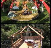 Awesome floating bed…