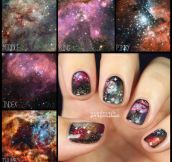 I painted parts of the universe onto my fingers…