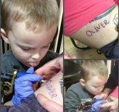 Dad will love this tattoo more than any other…