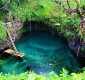Natural swimming pool in Samoa Island…