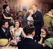 Teenage party in 1947…