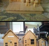 Miniature western town…