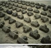 Sand sculpture installation…