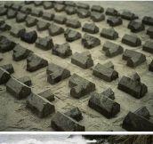 Sand sculpture installation…