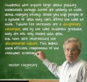 Students with large debts…
