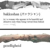 Very unusual words and their meaning…