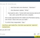 And God said to Abraham…