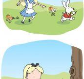 A disturbing version of Alice In Wonderland…