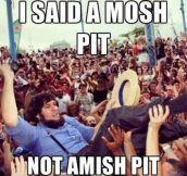 Amish pit…