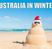 Cold days in Australia…