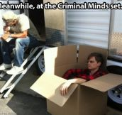 Meanwhile, on the set of Criminal Minds…