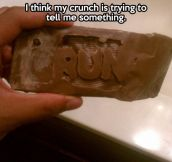 This Crunch is trying to tell you something…