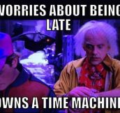 Scumbag Emmett 'Doc' Brown…