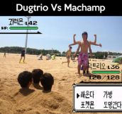 Dugtrio vs. Machamp…