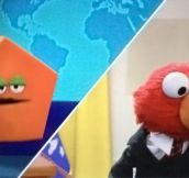 Elmo contacting the pentagon…