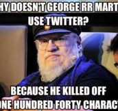 George R.R. Martin on Twitter…