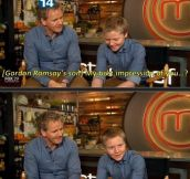 Gordon Ramsay's son best impression…