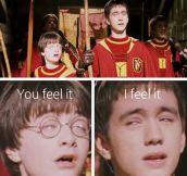 Harry is feeling it…