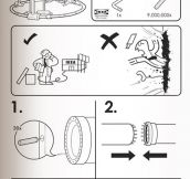 Ikea's instructions for everything…