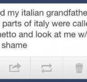 Italian grandfather…