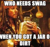 Captain Sparrow knows better…