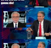 Jon Stewart's props team…