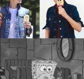 Poor SpongeBob…