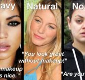 What people say according to my makeup…