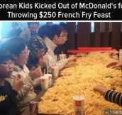 French fry feast…